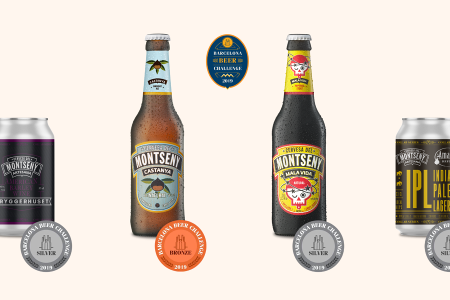 Our beers are awarded 4 medals at the Barcelona Beer Festival 2019