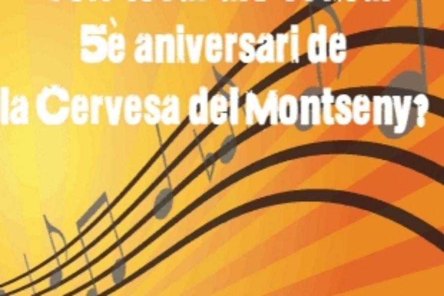 Vols tocar al Festival 5è aniversari Cervesa del Montseny?